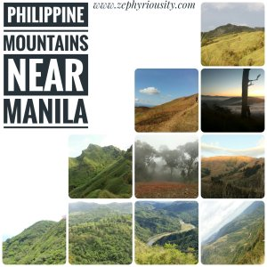 philippine mountains near manila