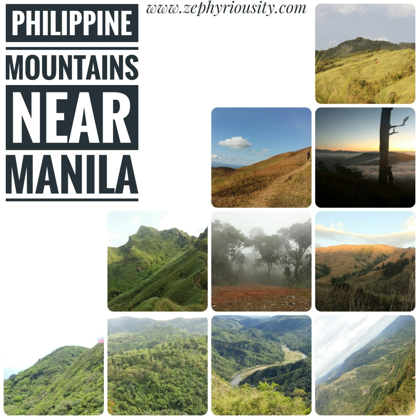 Philippine Mountains near Manila that I've Climbed