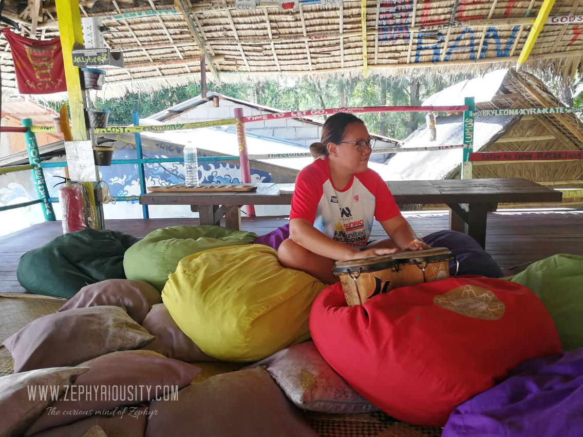 bean bags circle hostel zambales