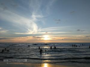 sunset by the beach liwliwa zambales