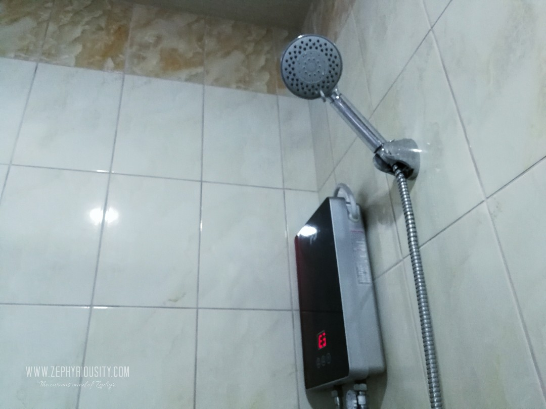 shower heater mi amores transient rooms