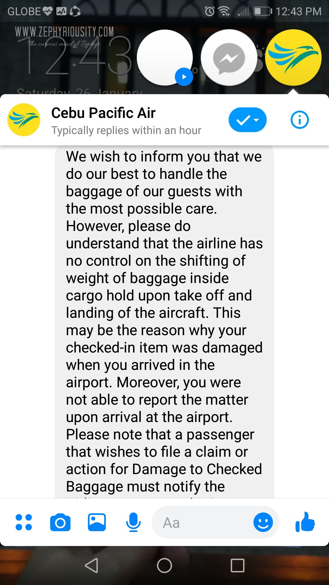 airline damaged baggage conversation cebu pacific 2