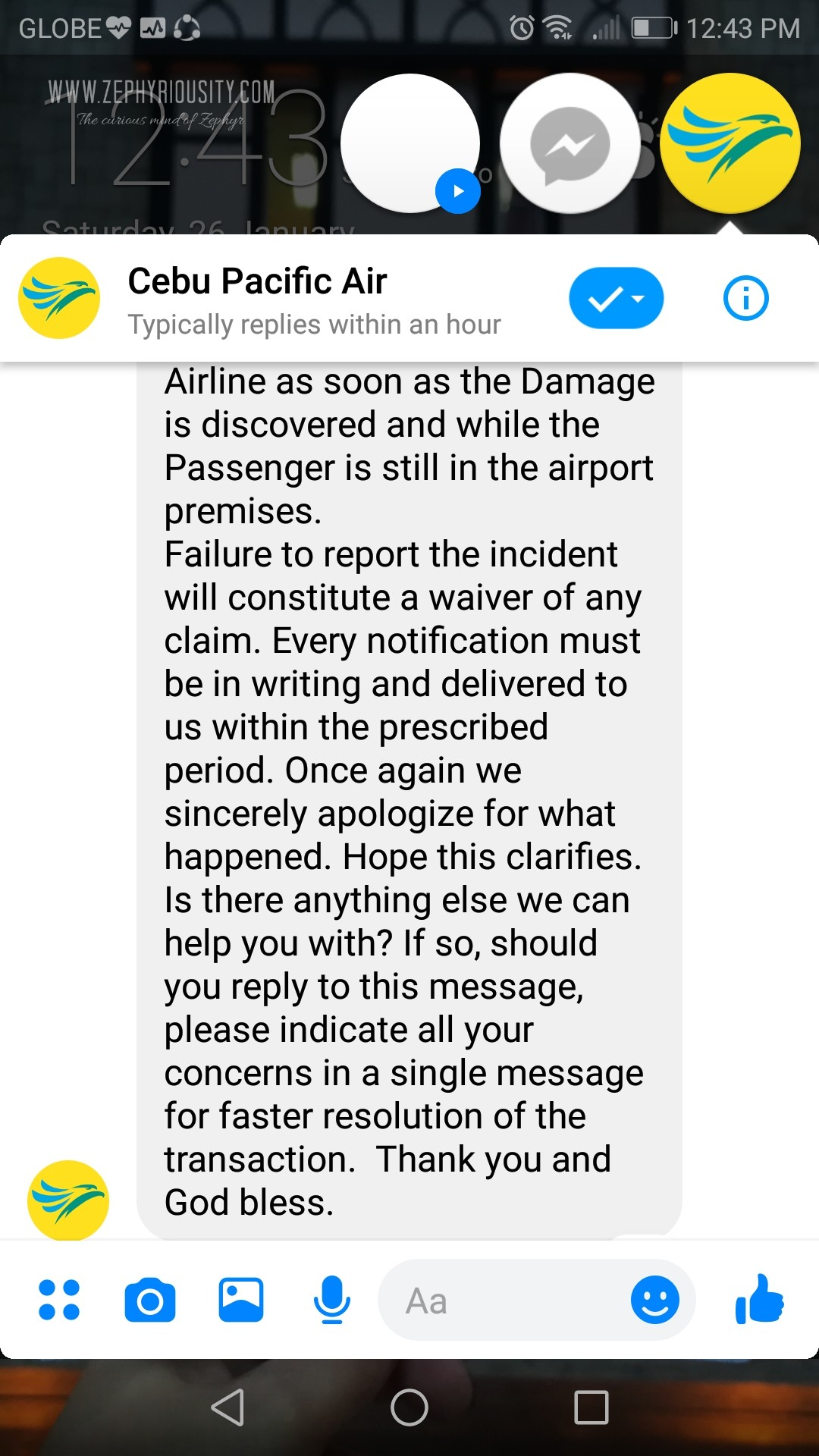 airline damaged baggage conversation cebu pacific 3