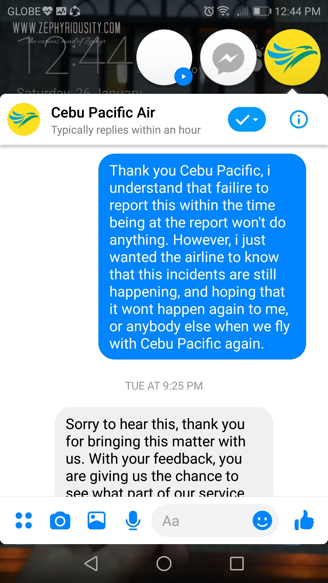 airline damaged baggage conversation cebu pacific 4