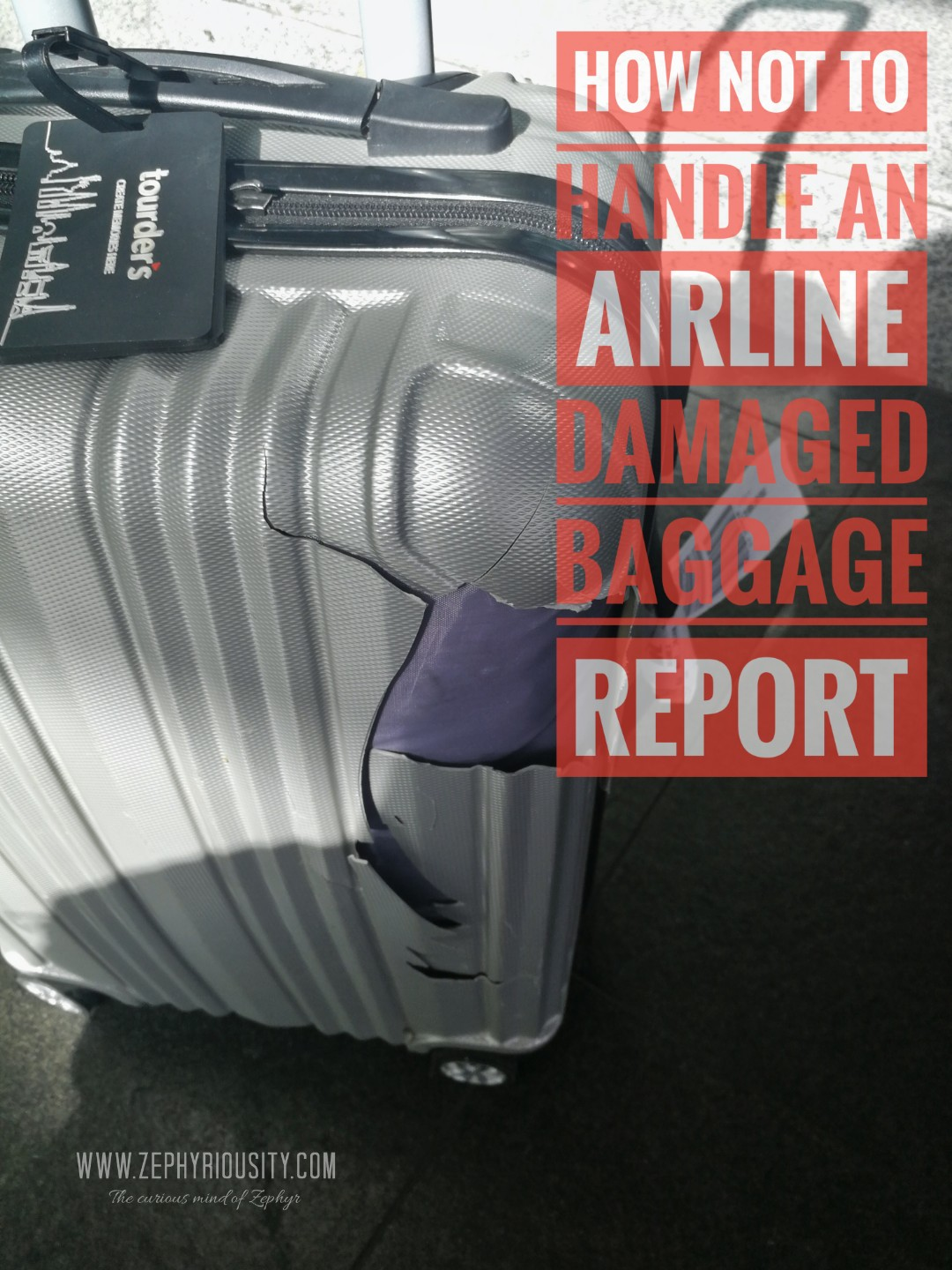 How NOT to Handle an Airline Damaged Baggage Report