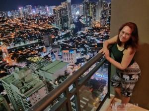 gramercy residences night view skycrapers