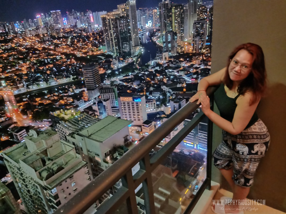 gramercy residences night view skycrapers