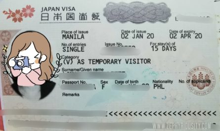 Approved Japan Tourist Visa Sample
